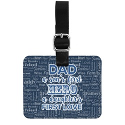 My Father My Hero Genuine Leather Rectangular  Luggage Tag (Personalized)