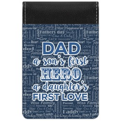 My Father My Hero Genuine Leather Small Memo Pad (Personalized)