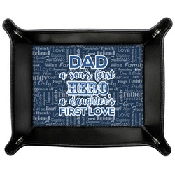 My Father My Hero Genuine Leather Valet Tray (Personalized)