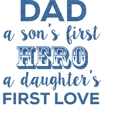 My Father My Hero Glitter Sticker Decal - Custom Sized (Personalized)