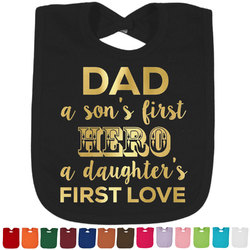 My Father My Hero Foil Baby Bibs (Select Foil Color) (Personalized)