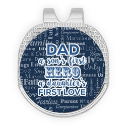 My Father My Hero Golf Ball Marker - Hat Clip