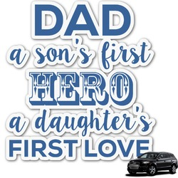 My Father My Hero Graphic Car Decal (Personalized)
