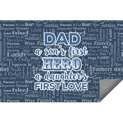 My Father My Hero Indoor / Outdoor Rug - 6'x9' (Personalized)