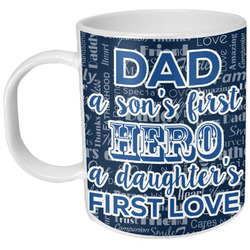 My Father My Hero Plastic Kids Mug (Personalized)