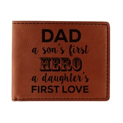 My Father My Hero Leatherette Bifold Wallet - Single Sided (Personalized)