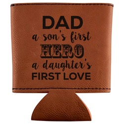 My Father My Hero Leatherette Can Sleeve (Personalized)
