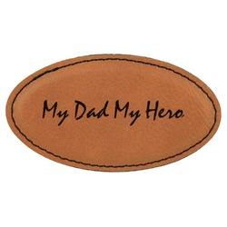 My Father My Hero Leatherette Oval Name Badge with Magnet (Personalized)