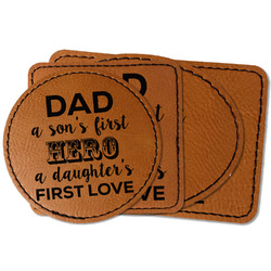 My Father My Hero Faux Leather Iron On Patch