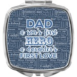 My Father My Hero Compact Makeup Mirror (Personalized)