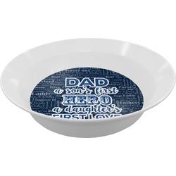 My Father My Hero Melamine Bowl (Personalized)