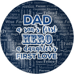 """My Father My Hero Melamine Plate - 8"""" (Personalized)"""