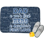 My Father My Hero Memory Foam Bath Mat (Personalized)