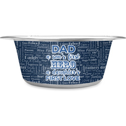 My Father My Hero Stainless Steel Pet Bowl (Personalized)