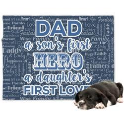 My Father My Hero Minky Dog Blanket (Personalized)