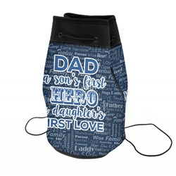 My Father My Hero Neoprene Drawstring Backpack (Personalized)