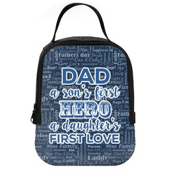 My Father My Hero Neoprene Lunch Tote (Personalized)