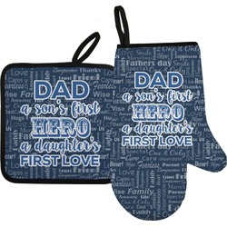 My Father My Hero Oven Mitt & Pot Holder (Personalized)