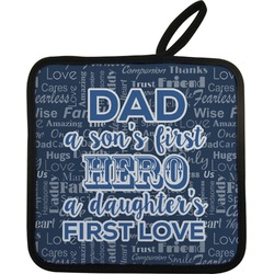 My Father My Hero Pot Holder (Personalized)