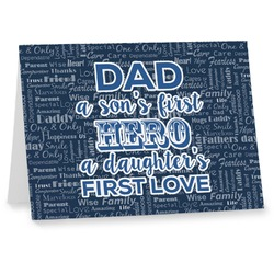 My Father My Hero Notecards (Personalized)
