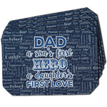 My Father My Hero Dining Table Mat - Octagon