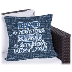 My Father My Hero Outdoor Pillow (Personalized)
