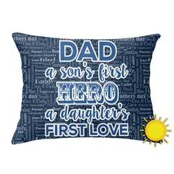 My Father My Hero Outdoor Throw Pillow (Rectangular) (Personalized)
