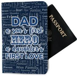 My Father My Hero Passport Holder - Fabric (Personalized)