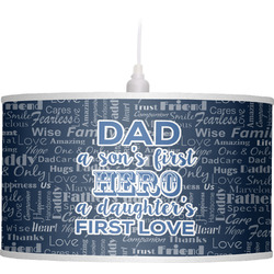 My Father My Hero Drum Pendant Lamp (Personalized)