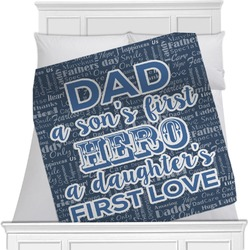 My Father My Hero Minky Blanket (Personalized)