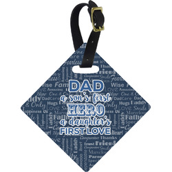 My Father My Hero Diamond Luggage Tag (Personalized)