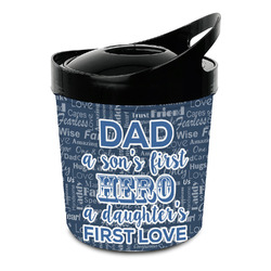 My Father My Hero Plastic Ice Bucket (Personalized)
