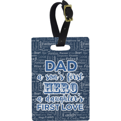My Father My Hero Rectangular Luggage Tag (Personalized)