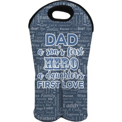 My Father My Hero Wine Tote Bag (2 Bottles) (Personalized)