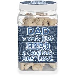 My Father My Hero Dog Treat Jar (Personalized)