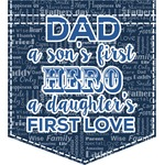 My Father My Hero Iron On Faux Pocket (Personalized)