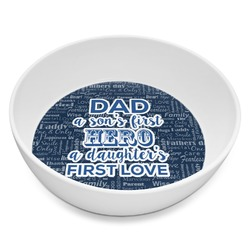 My Father My Hero Melamine Bowl 8oz (Personalized)