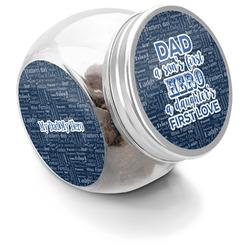 My Father My Hero Puppy Treat Jar (Personalized)