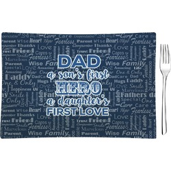 My Father My Hero Rectangular Glass Appetizer / Dessert Plate - Single or Set (Personalized)