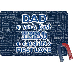 My Father My Hero Rectangular Fridge Magnet (Personalized)