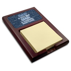 My Father My Hero Red Mahogany Sticky Note Holder (Personalized)