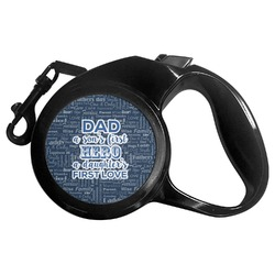 My Father My Hero Retractable Dog Leash - Multiple Sizes (Personalized)