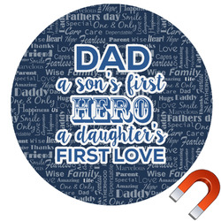 My Father My Hero Round Car Magnet (Personalized)