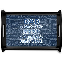 My Father My Hero Black Wooden Tray (Personalized)