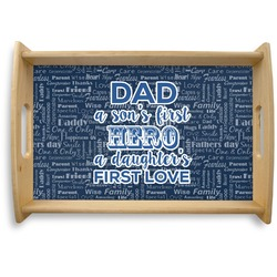 My Father My Hero Natural Wooden Tray (Personalized)