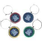 My Father My Hero Wine Charms (Set of 4) (Personalized)
