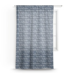 My Father My Hero Sheer Curtains (Personalized)