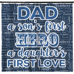 My Father My Hero Shower Curtain (Personalized)