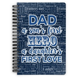 My Father My Hero Spiral Bound Notebook (Personalized)