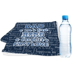 My Father My Hero Sports & Fitness Towel (Personalized)